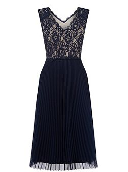 Lace Pleated Midi