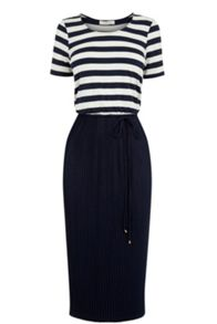 Oasis Stripe Midi Dress