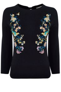Oasis V&A Embroidered Jumper