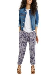 Oasis Summer Paisley Print Trouser