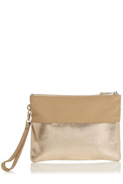 Oasis Flossy Suede Patched Purse