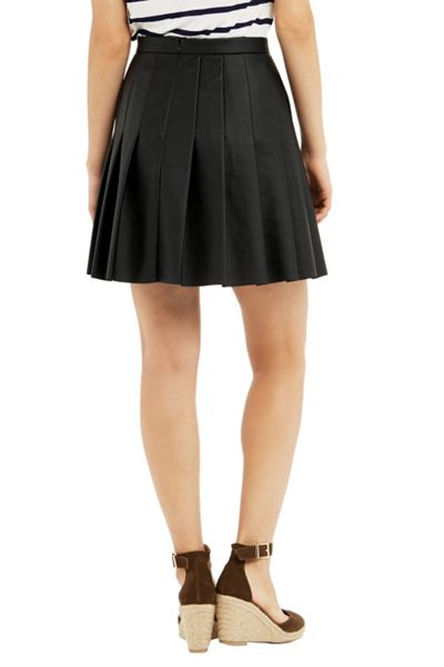 Oasis Faux Leather Skirt