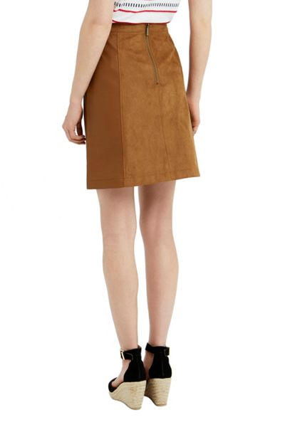Oasis Suedette Patched A Line Skirt
