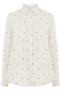 Oasis Star Print Cotton Shirt