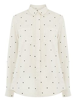 Star Print Cotton Shirt