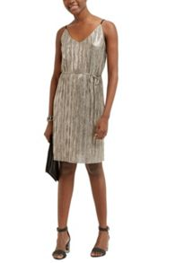 Oasis Metallic Slip Dress