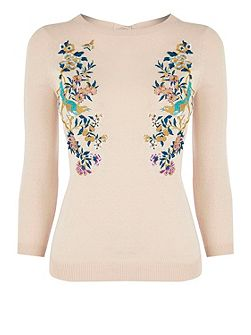 V&A Embroidered Jumper