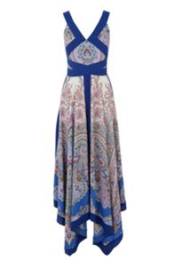 Paisley Placement Maxi Dress