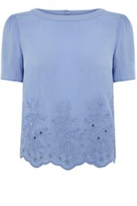 Embroidered Scallop T-Shirt