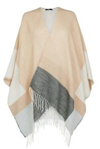 Stripe Fringed Wrap