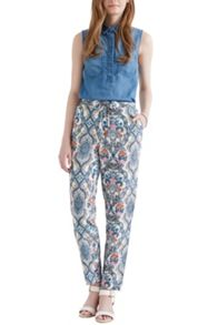 Ornate Delft Print Trouser