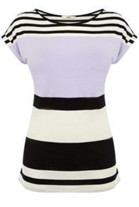 Pastel shadow stripe t-shirt
