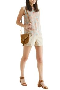 Lace Trim Blossom Shell Top