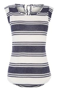 Stripe Fitted Bow Back Tee