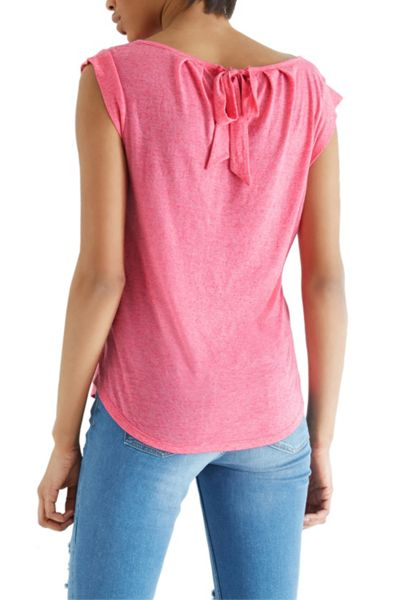 Oasis Fitted Bow Back Tee