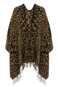 Animal Fringed Wrap