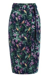 Rainforest Fuschia Pencil Skirt