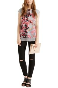 Shadow lily patched t shirt