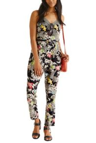 Falling Leaf Viscose Jumpsuit