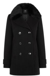 Erin Fur Collar Pea Coat