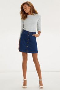 Button Through Mini Skirt