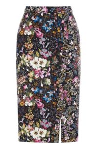 Midnight Garden Pencil Skirt