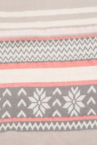Prague Fairisle Stripe Scarf