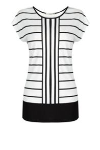 Printed Cut About Stripe Tee