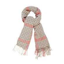 Houndstooth Boucle Scarf