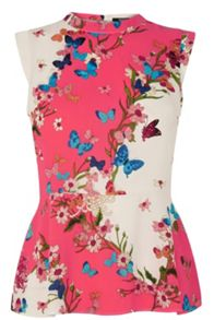 Kyoto Butterfly Peplum Top