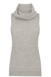 Ribbed Cowl Neck