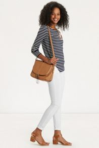 Lace Trim Stripe Tunic