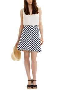 Stripe A Line Skirt