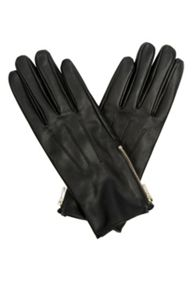 Zip Leather Glove