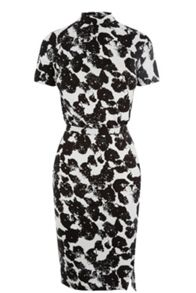 Textured Silhouette Print Dress