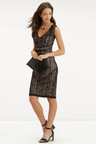 Piped Lace Dress