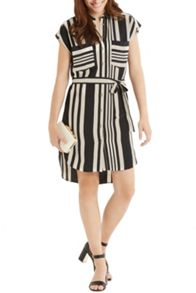 Moroccain Stripe Shirt Dress