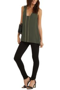 Metallic Trim Tunic