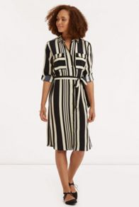 Stripe Shirt Dress Longer