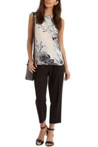 Photographic Floral Woven T-shirt