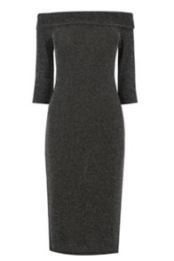Lurex Bardot Dress