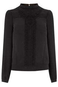 Victoriana Pleated Blouse