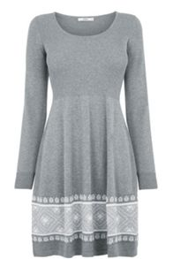 Fairisle Hem Dress