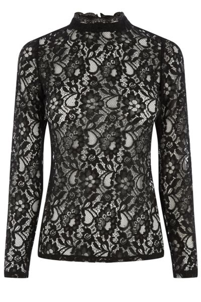 Oasis Lace High Neck Top