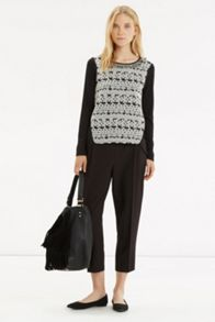 Tuffty Trim Jacquard Sweater