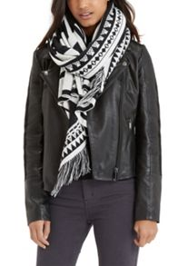 Oasis Abstract Fringed Scarf