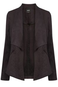 Oasis Suedette Waterfall Jacket