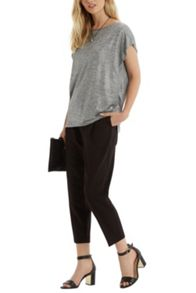 Marl Foil Sparkle Split Back T