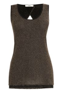 Lurex Wrap Back Vest