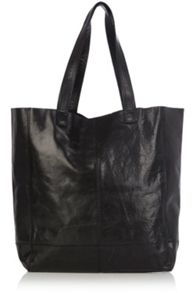 Unlined Leather Shopper